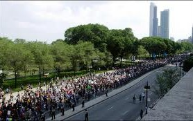 Livestream of #noNATO protests in Chicago