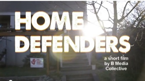 Home defenders is a short film about eviction resistance